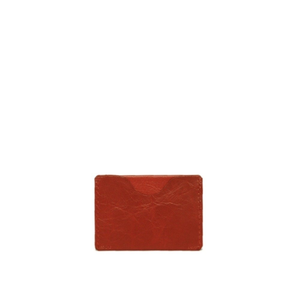 Le Porte-Cartes Gabin Carmine Red